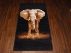 NOVELTY RANGE 80X150CM ELEPHANT RUGS/MATS TOP QUALITY BLACK/BEIGES NEW NICE RUGS